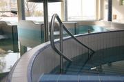Custom-made stainless steel pool railing